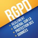 GDPR, allgemeine Daten-Schutz-Regelung, auf französisch: RGPD Stockfotos