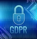 GDPR-allmän reglering för dataskydd Royaltyfri Fotografi