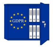 GDPR angielszczyzny - Ogólnych dane ochrony przepisu pojęcie Zdjęcia Stock