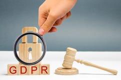 GDPR-begrepp Reglering f?r dataskydd Cybers?kerhet och avskildhet Lag p? dataskydd och avskildhet f?r alla individer arkivbild