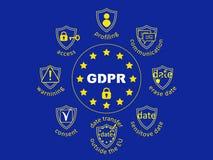 GDPR-begreppsillustration Reglering för skydd för allmänna data royaltyfri illustrationer