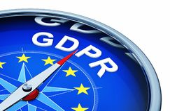 GDPR compass Royalty Free Stock Image