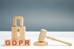 GDPR concept. Data Protection Regulation. Cyber security and privacy. Law on data protection and privacy for all individuals