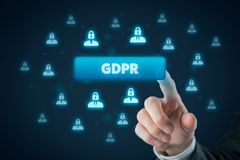 GDPR concept Royalty Free Stock Images