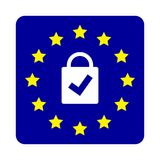 GDPR concept. General Data Protection Regulation. New EU law from 2018. This is GDPR concept. General Data Protection Regulation. New EU law from 2018 design Stock Image