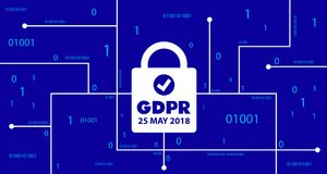 GDPR concept. General Data Protection Regulation. New EU law from 2018. This is GDPR concept. General Data Protection Regulation. New EU law from 2018 design Stock Images