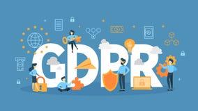 GDPR concept illustration. vector illustration