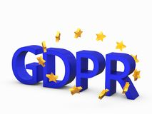GDPR 3D concept isolated on white a Stock Photography