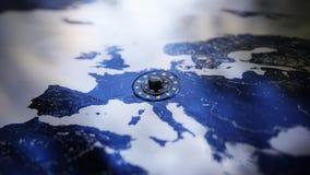 GDPR Europa kłódki DSGVO dane prywatności ochrona royalty ilustracja