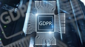 GDPR general data protection regulation. Abstract double exposure server room background. GDPR general data protection regulation. Abstract double exposure royalty free stock photos