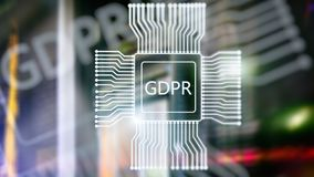 GDPR general data protection regulation. Abstract double exposure server room background. GDPR general data protection regulation. Abstract double exposure royalty free stock photo