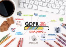 GDPR. General Data Protection Regulation, Business concept Stock Image