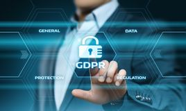 GDPR General Data Protection Regulation Business Internet Technology Concept royalty free stock photos