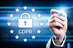 GDPR General Data Protection Regulation Business Internet Technology Concept.  Royalty Free Stock Images