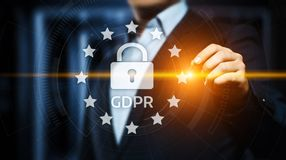 GDPR General Data Protection Regulation Business Internet Technology Concept.  Royalty Free Stock Photos