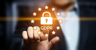 GDPR General Data Protection Regulation Business Internet Technology Concept.  Stock Photography