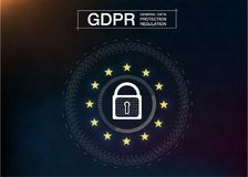 Free GDPR-GENERAL DATA PROTECTION REGULATION.Cyber Security And Privacy. Royalty Free Stock Image - 120917356