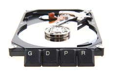 GDPR - General Data Protection Regulation in European union. GDPR - General Data Protection Regulation - Cyber security and privacy in European union Stock Images
