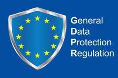 Gdpr general data protection regulation. Eu safeguard regulations and data encryption vector concept background.  Stock Photo
