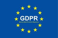 Gdpr general data protection regulation. Eu safeguard regulations and data encryption vector concept background.  Stock Image