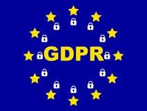 GDPR - General Data Protection Regulation. EU royalty free illustration
