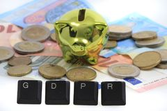 GDPR - General Data Protection Regulation in European union. GDPR - General Data Protection Regulation - Cyber security and privacy in European union Royalty Free Stock Photo