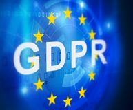 GDPR general data protection regulation.  Royalty Free Stock Photo