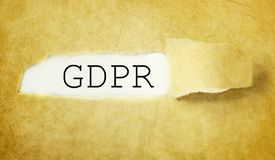 GDPR general data protection regulation.  Stock Images