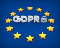 GDPR - General Data Protection Regulation Illustration. 3D rendering Stock Photo