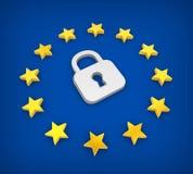 GDPR - General Data Protection Regulation Illustration. 3D rendering Royalty Free Stock Image