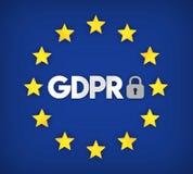 GDPR - General Data Protection Regulation Illustration. 3D rendering Stock Images