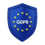 GDPR - General Data Protection Regulation Illustration. 3D rendering Stock Image