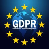 GDPR General Data Protection Regulation on 25 may 2018. GDPR illustration Royalty Free Stock Images