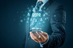 GDPR and smart phone concept royalty free stock image