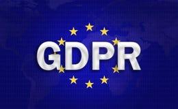 GDPR-Hintergrund lizenzfreie stockfotos
