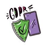 GDPR-illustration Skyddet av personliga data vektor illustrationer