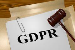 GDPR - legalny pojęcie royalty ilustracja