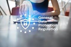 GDPR Ogólnego ochrona danych przepisowa zgodność, Europejski ewidencyjnej ochrony prawo obrazy royalty free