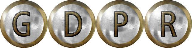 GDPR, Ogólnych dane ochrony przepis zdjęcia stock