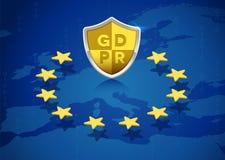 GDPR Ogólnych dane ochrony przepis w Europejskim zjednoczeniu ilustracji