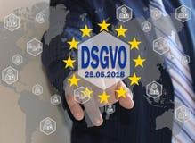 GDPR, Ogólnych dane ochrony przepis w Niemieckim języku DSGVO, Grundlegende Datenschutzbestimmungen obraz royalty free