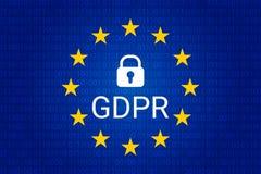 GDPR - Ogólnych dane ochrony przepis wektor Zdjęcia Stock
