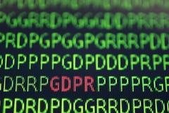 GDPR ogólnych dane ochrony przepisu pojęcie Fotografia Stock