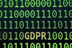 GDPR ogólnych dane ochrony przepisu pojęcie Zdjęcia Stock