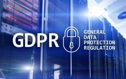 GDPR, Ogólnych dane ochrony przepisu zgodność Serweru pokoju tło Zdjęcia Stock