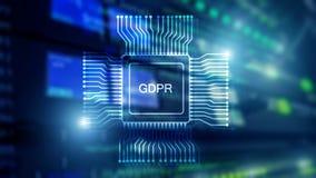 GDPR og?lnych dane ochrony przepis Abstrakcjonistyczny dwoistego ujawnienia serweru pok?j t?a b??kitny pod??czeniowa internet?w t zdjęcia royalty free