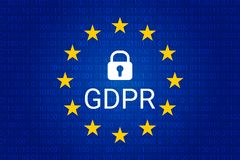 GDPR - Reglering för skydd för allmänna data vektor Arkivfoton