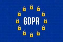 GDPR - Regolamento generale di protezione dei dati Immagini Stock