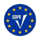 GDPR - Regolamento generale di protezione dei dati, icona di conferma Immagine Stock