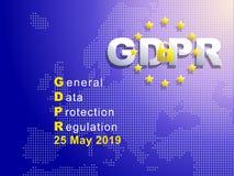 GDPR - Regolamento generale di protezione dei dati fotografia stock libera da diritti